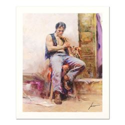 "Pino (1939-2010) ""Music Lover"" Limited Edition Giclee. Numbered and Hand Signed; Certificate of Auth"