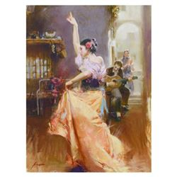 "Pino (1939-2010), ""Isabella"" Limited Edition Artist-Embellished Giclee on Canvas. Numbered and Hand"
