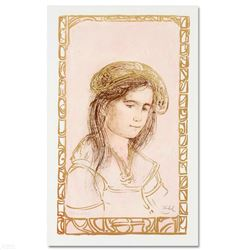 """""""Rita"""" Limited Edition Lithograph by Edna Hibel (1917-2014), Numbered and Hand Signed with Certifica"""