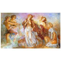 "Lena Sotskova, ""Birth of Venus"" Hand Signed, Artist Embellished Limited Edition Giclee on Canvas wit"