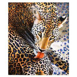 "Vera V. Goncharenko- Original Giclee on Canvas ""Licking"""