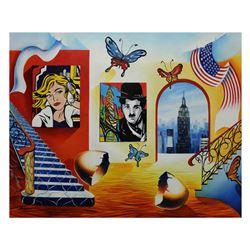 """Alexander Astahov- Original Giclee on Canvas """"Manhattan Vew"""""""