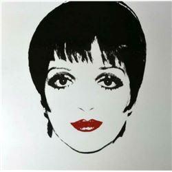 "Andy Warhol- Screenprint in colors ""Liza Minnelli, 1976, White"""