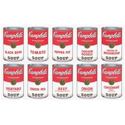 """Andy Warhol- Silk Screen (Portfolio consisting of 10 different Soup Cans) """"Campbell's Soup Can Serie"""