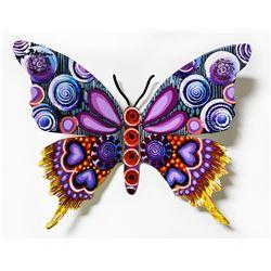 "Patricia Govezensky- Original Painting on Cutout Steel ""Butterfly CCLXXVII"""