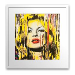 "Mr. Brainwash- Original Offset Lithograph on Paper ""Kate Moss"""