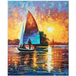 Leonid Afremov (1955-2019)  Bonding  Limited Edition Giclee on Canvas, Numbered and Signed. This pie