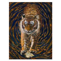 Vera V. Goncharenko,  Wild Tiger  Hand Signed Limited Edition Giclee on Canvas with Letter of Authen