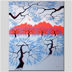 Red Mountains  Limited Edition Giclee on Canvas by Larissa Holt, Numbered and Signed. This piece co