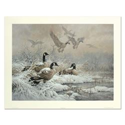 Larry Fanning (1938-2014),  Winter Retreat - Canada Geese  Limited Edition Lithograph, Numbered and