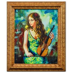 "Taras Sidan- Hand Embellished Giclee on Canvas ""Lexi"""