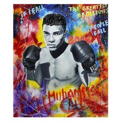 "Nastya Rovenskaya- Original Oil on Canvas ""Ali The Greatest"""