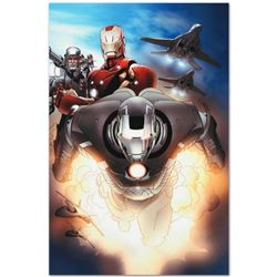 """Marvel Comics """"Iron Man 2.0 #7"""" Numbered Limited Edition Giclee on Canvas by Salvador Larroca with C"""