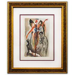 "Salvador Dali- Original Color Woodcut on B.F.K. Rives Paper ""Purgatory 32"""