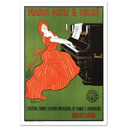 """RE Society, """"Piano Ortiz and Cuzzo"""" Hand Pulled Lithograph, Image Originally by Camiro. Includes Let"""
