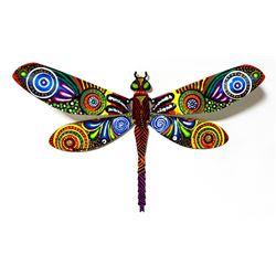 "Patricia Govezensky- Original Painting on Cutout Steel ""Dragonfly LV"""