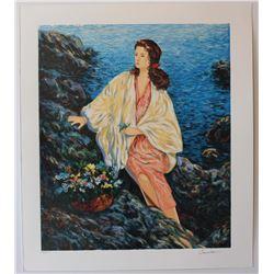 "Igor Semeko- Original Serigraph on Paper ""Beauty by the Seaside"""
