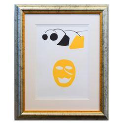 "Alexander Calder- Lithograph ""DLM221 - Masque jaune"""