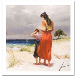 "Pino (1939-2010) ""Beach Walk"" Limited Edition Giclee. Numbered and Hand Signed; Certificate of Authe"