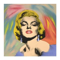"Steve Kaufman (1960-2010), ""Marilyn Monroe"" Hand Painted Limited Edition Hand Pulled Silkscreen on C"