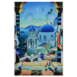 """Ferjo, """"Cruising to Santorini"""" Limited Edition on Gallery Wrapped Canvas, Numbered and Signed with L"""
