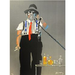 "Waldemar Swierzy (1931-2013)- Hand Pulled Original Lithograph ""Its a deal"""