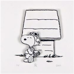 """Peanuts, """"Hero"""" Hand Numbered Limited Edition 3D Decoupage with Certificate of Authenticity."""
