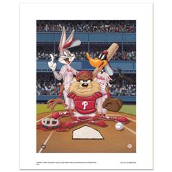 """""""At the Plate (Phillies)"""" Numbered Limited Edition Giclee from Warner Bros. with Certificate of Auth"""