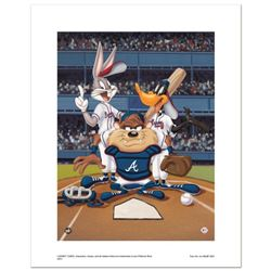 """""""At the Plate (Braves)"""" Numbered Limited Edition Giclee from Warner Bros. with Certificate of Authen"""