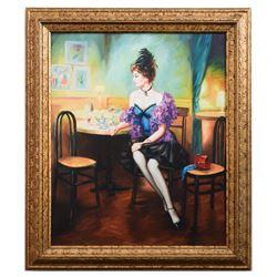 "Taras Sidan- Original Giclee on Canvas ""Dinner"""