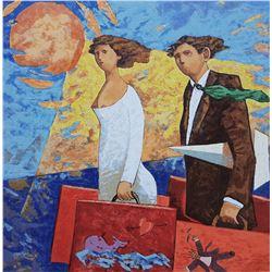 """Giampaolo Talani """"UN VIAGGIO"""" Original Serigraph"""