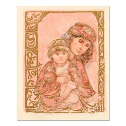 """Edna Hibel (1917-2014), """"Valentine and Kore"""" Limited Edition Lithograph on Rice Paper, Numbered and"""
