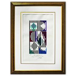 "Yaacov Agam- Original Silkscreen on parchment Paper ""Untitled"""