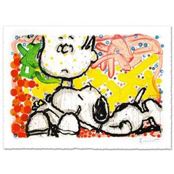 """Super Sneaky"" Limited Edition Hand Pulled Original Lithograph by Renowned Charles Schulz Protege, T"