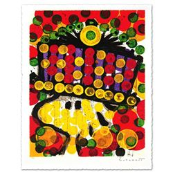 """Bird Of Paradise"" Limited Edition Hand Pulled Original Lithograph by Renowned Charles Schulz Proteg"