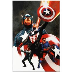 "Marvel Comics ""Captain America #600"" Numbered Limited Edition Giclee on Canvas by Steve Epting with"