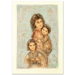 """Catherine and Children"" Limited Edition Lithograph by Edna Hibel (1917-2014), Numbered and Hand Sig"