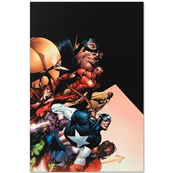 "Marvel Comics ""Avengers #500"" Numbered Limited Edition Giclee on Canvas by David Finch with COA."