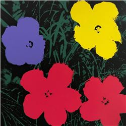 "Andy Warhol- Silk Screen ""Flowers 11.73"""