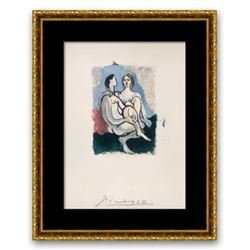 "Pablo Picasso- Lithograph on Arches Paper ""La Couple"""