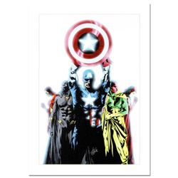 "Stan Lee Signed, ""Avengers #491"" Numbered Marvel Comics Limited Edition Canvas by Jae Lee with Certi"