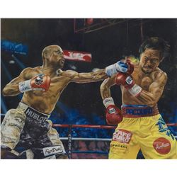 "Turchinsky Dimitry- Mixed Media ""Mayweather Vs Pacquiao"""