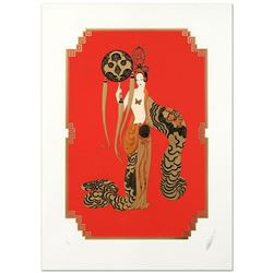 "Erte (1892-1990), ""Bamboo"" Limited Edition Serigraph, Numbered and Hand Signed with Certificate of A"