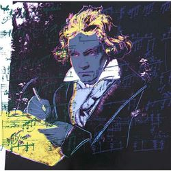 "Andy Warhol- Screenprint in colors ""Beethoven 393, 1987"""