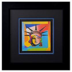"Peter Max- Original Lithograph ""Liberty Head XV (Mini)"""