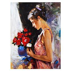 "Igor Semeko- Hand Embellished Giclee on Canvas ""Blessings"""