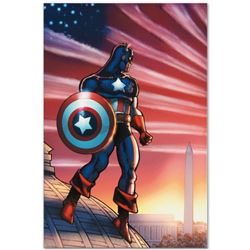 """Marvel Comics """"Captain America Theatre of War: America First. #1"""" Numbered Limited Edition Giclee on"""
