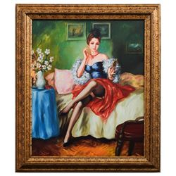 "Taras Sidan- Original Giclee on Canvas ""Before The Date"""