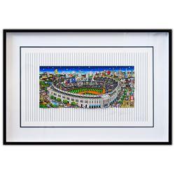 "Charles Fazzino- 3D Construction Silkscreen Serigraph ""Pinstripe Pride"""