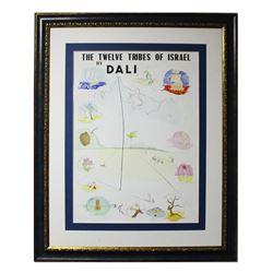 "Salvador Dali- Lithograph ""Twelve Tribes of Israel 1972"""